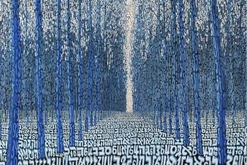 Tobia Ravà, Foresta profetica, 2014, sublimazione su raso acrilico, 110x110 cm