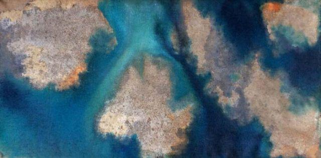 TTOZOI, Sex on canvas#7, muffe e pigmenti naturali su juta Courtesy Raffaella De Chirico - Galleria Arte Contemporanea, Torino