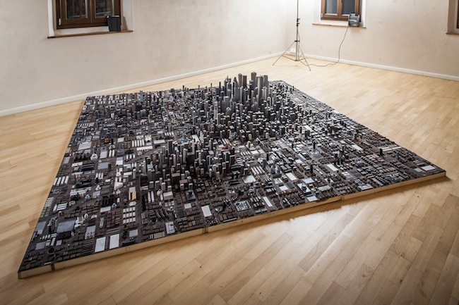 The Place, collage - toys, plastic, wood, augmented reality -2014- cm 300x300x50 h (particular)