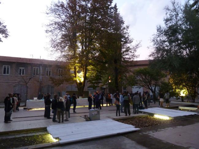 Un'immagine dell'inaugurazione del 5 ottobre 2012, veduta del cortile interno, Spazio Grisù, Ferrara