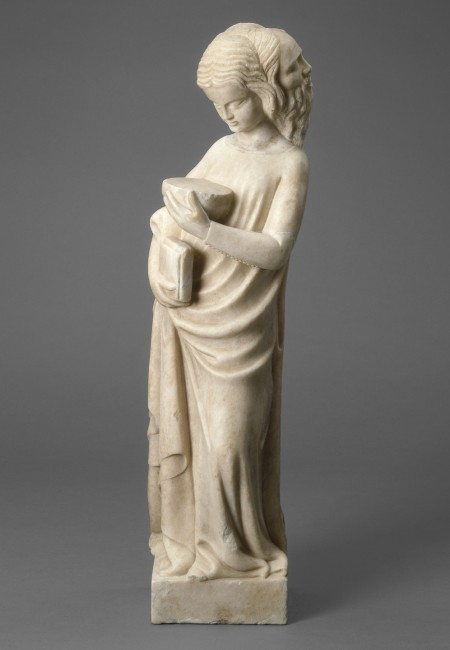 Bonino da Campione, Prudenza, marmo, 67.7x19.1x15.2 cm, National Gallery of Art, Washington, Samuel H. Kress Collection