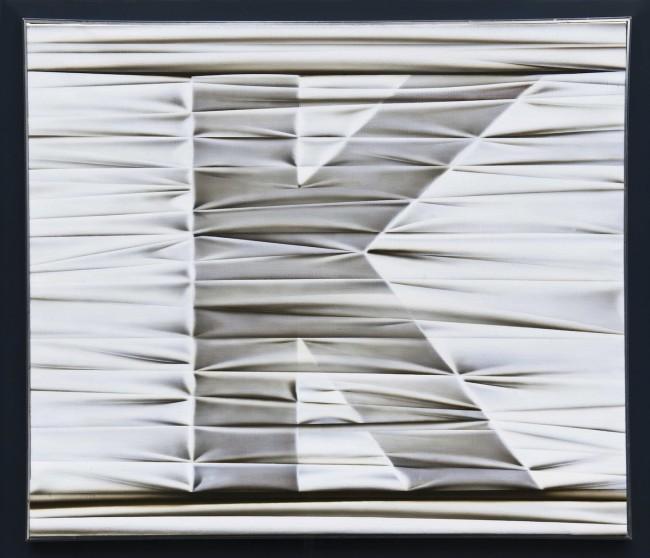 Umberto Mariani, Alfabeto afono: K, 1974, acrilico e sabbia su lamina di piombo, 56x65 cm Provenienza Studio dell'artista, Milano - Jerome Zodo Contemporary, Milano