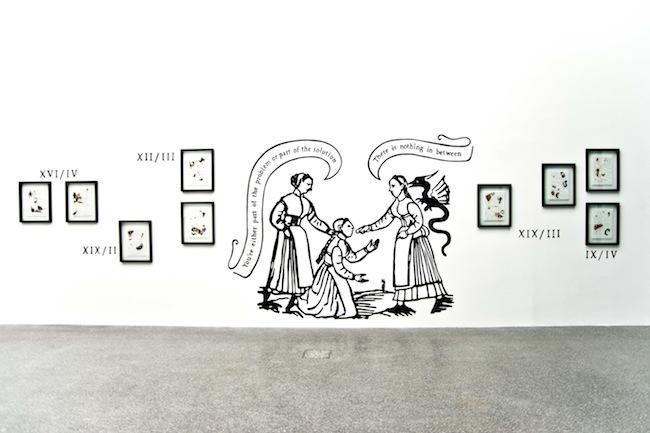 Chiara Fumai, Der Hexenhammer, pittura su muro, Museion Project Room, 2015. Foto Gianluca Turatti. Courtesy of the artist and A Palazzo Gallery, Brescia