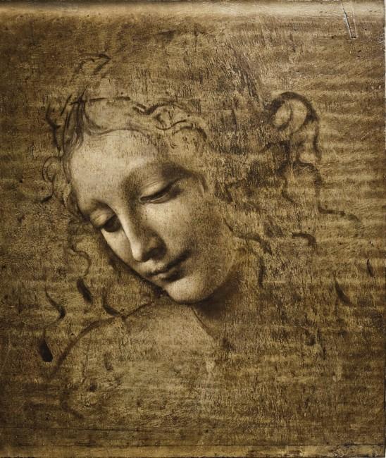 Leonardo da Vinci, La Scapiliata, olio su tavola, 24.7x21x 1.1 cm Parma, Galleria Nazionale di Parma