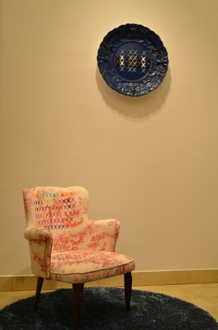 Vincenzo Marsiglia, Seat Star, 2011, acrilico su tessuto bucolico, 73x50x60 cm