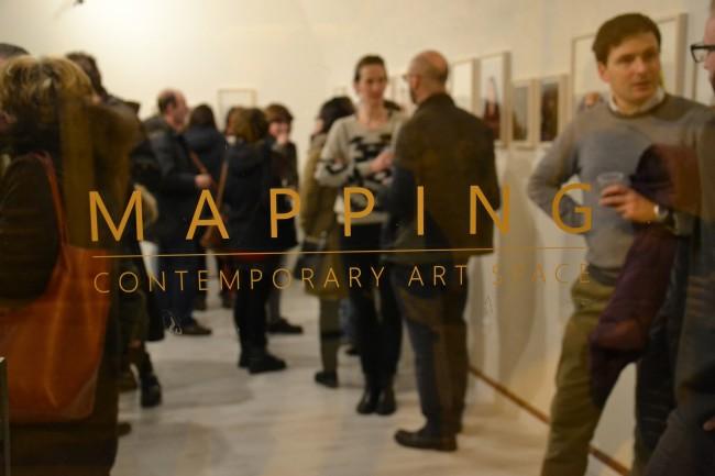 Arianna Arcara. Carte de visite, veduta dell'inaugurazione, Mapping Contemporary Art Space, Rovereto (TN)