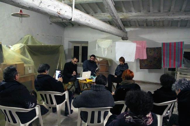 Effetto Farfalla a Palazzo Giannini da sinistra Giovanni Gaggia , Pietro Gaglianò e Giovanna Giannini Guazzugli 3