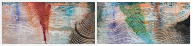 Roberto Coda Zabetta, FILM#51 e FILM#52, 2014, smalto, tempera e pigmento su tela, 185 x 425 cm Courtesy Roberto Coda Zabetta Foto Matteo Girola