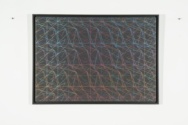 Támas Jovanovics, You Gave Me a Mountain, 2014, matita su carta applicata su compensato, 70x100 cm