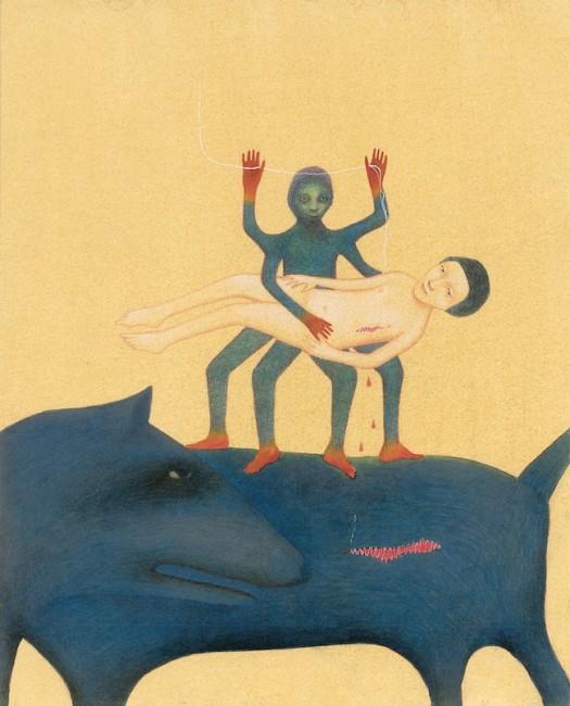 Alicia Baladan, Una storia Guaraní, tavola La cura del ragno, 2010, acquerello e matita su carta