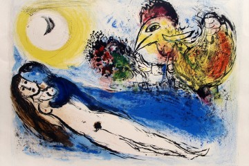 Marc Chagall, Bonjour sur Paris, 1952, litografia, 51x66 cm
