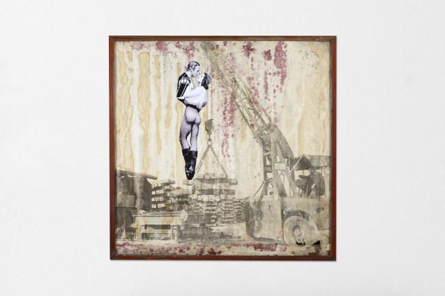 Eugenio Tibaldi, Landscape of Identity, 2015, collage digitale su tela stampata, 83x83 cm Courtesy Studio la Città, Verona Foto Michele Sereni