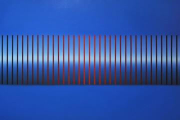 Ping Li, Spazio 02, 2015, olio su tela, 100x150 cm