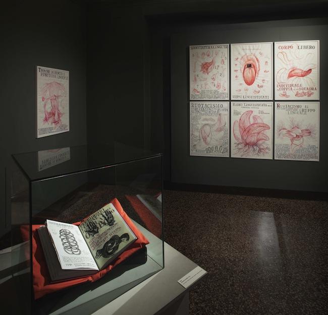 Sissi. Manifesto Anatomico, veduta della mostra presso il Museo di Palazzo Poggi (1), ph. Matteo Monti, courtesy MAMbo. Museo d'Arte Moderna di Bologna