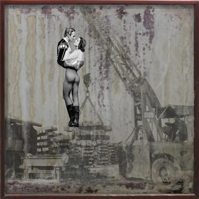 Eugenio Tibaldi, Landscape of identity 01, 2015, collage digitale su tela stampata, 83x83cm Courtesy Studio la Città, Verona
