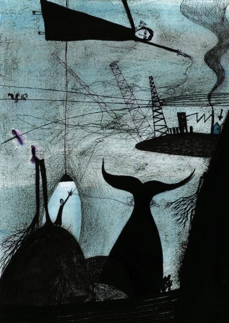 Francesco Levi, Watt 0,5, tavola 6, 2013, tecnica mista su carta