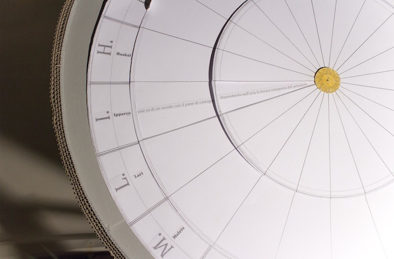 Amalia Del Ponte, La ruota della memoria (particolare), 2014, tecnica mista, 115x70 cm