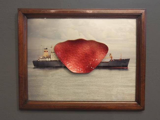 L' atelier del naufragio, 2015, legno, foto stampata su lastra di alluminio, maniglia Gio' Ponti autenticata, cm 38,5x48,5