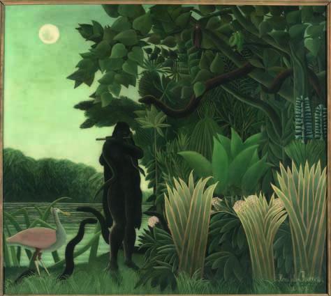 Henri Rousseau, La Charmeuse de serpents (L'Incantatrice di serpenti), 1907, olio su tela, 167x189.5 cm, Musée d'Orsay, Parigi © RMN-Grand Palais (Musée d'Orsay)/Hervé Lewandowski