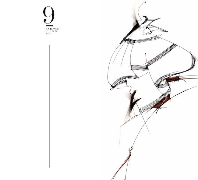 Gianfranco Ferré, La Ronde SS 93, disegno