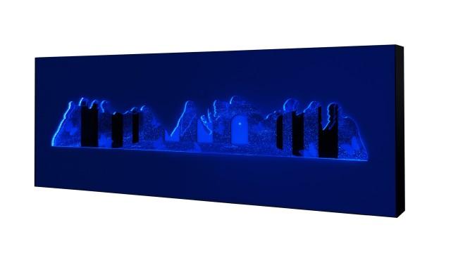 Giulio De Mitri, Sacralia, 2015 tecno-light-box, cm 65x180x16