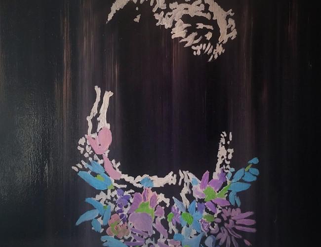 Matteo Sanna, The line of beauty__2015_oil on wood_50 x 50 cm