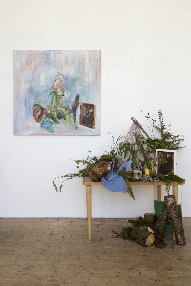 Paola Angelini, veduta dell'installazione LANDSKAPET, mostra di fine residenza-Nordisk Kunstnarsenter Dale (NKD)-Norvegia-Courtesy Galleria Massimodeluca