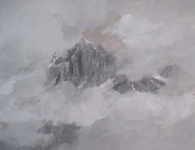 Luca Conca, Pizzo Stella, 2015, olio su carta intelata, 48x56 cm
