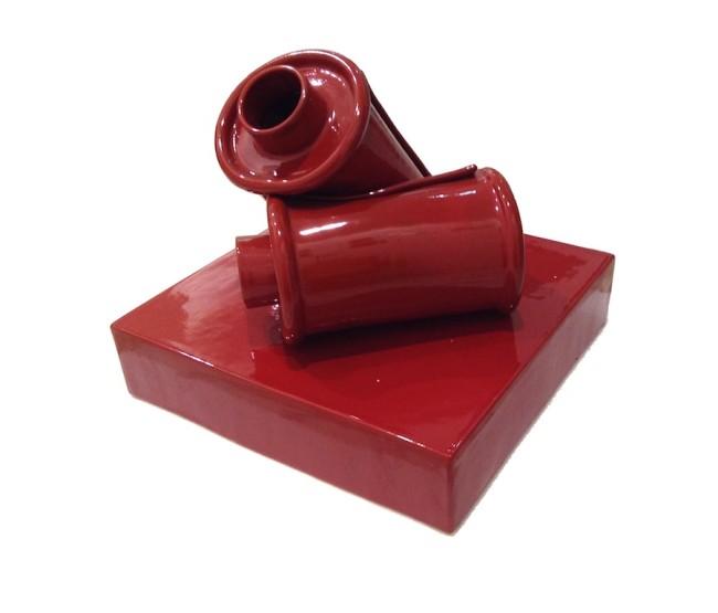 Giorgio Laveri, Discorso da sviluppare, 2004, ceramica smaltata, 38x40x38 cm Courtesy Galleria Colossi Arte Contemporanea, Brescia