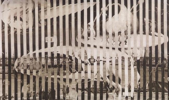 Jiří Kolář, Ricordo di Venezia, 1969, emulsione fotografica su tela, 84.5x140 cm