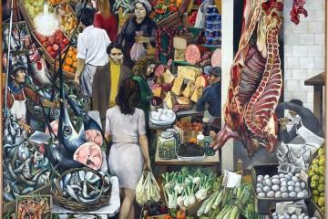 Renato Guttuso, Vucciria, 1974, olio su tela, 300×300 cm