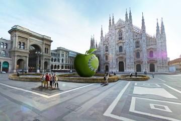 Michelangelo Pistoletto, Terzo Paradiso - La Mela Reintegrata (rendering-elaborazione)