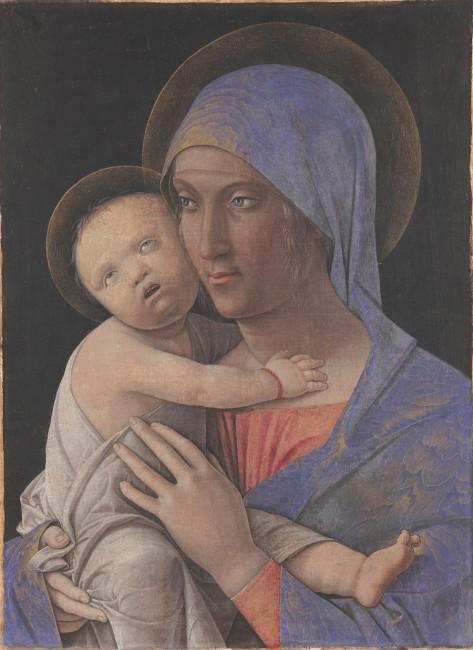 Andrea Mantegna, Madonna col Bambino, 1475 circa, tempera su tela, 43.5x31 cm, Accademia Carrara, Bergamo