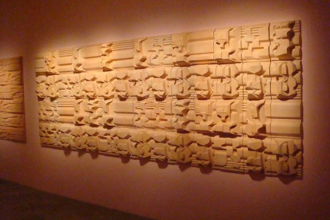 """NINO CARUSO """"Omaggio a Petra"""" Altorilievo continuo 2005 Terracotta, cm 142 x 393 x 15"""