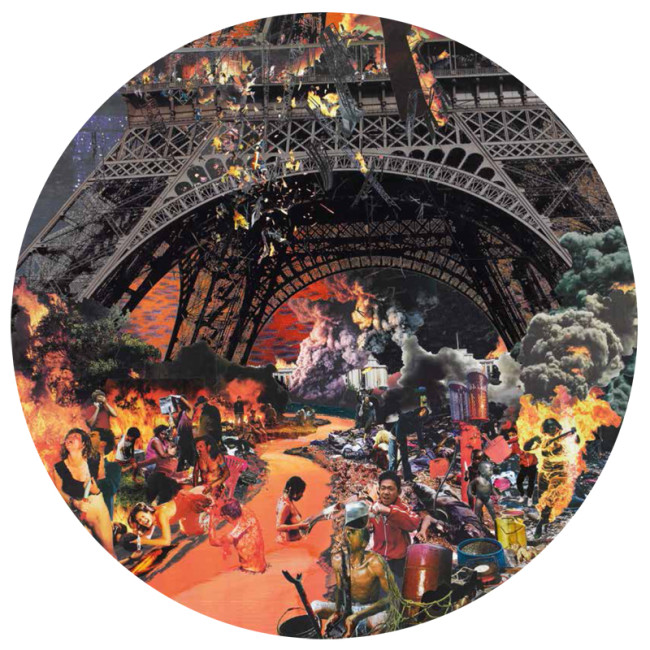 David Mach, Hell - Paris - 2011 - diametro : diameter cm 172