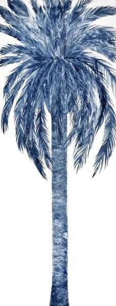Emilia Faro, Blue palm watercolor on paper, 2015