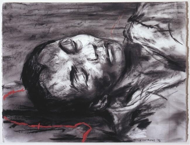William Kentridge, Untitled, 2005, carboncino e pastello su carta, 50x66 cm Foto Paolo Vandrasch