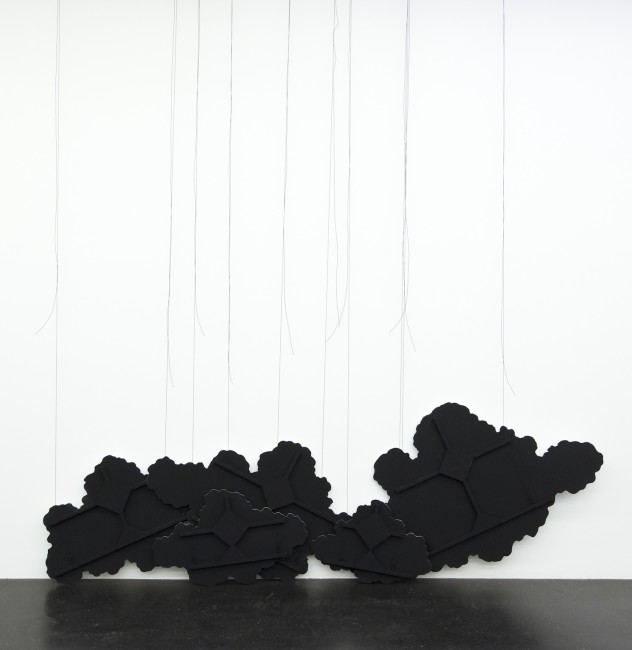 Latifa Echakhch, Untitled (black clouds), 2015, installation view, Lentos Kunstmuseum, Linz, 2015 Photo Reinhard Haider