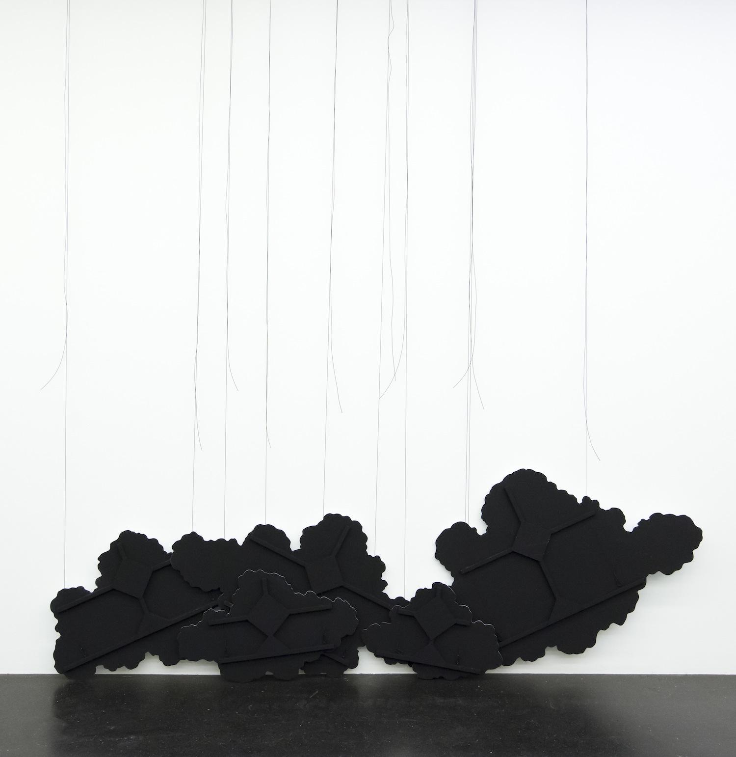 Latifa Echakhch, Untitled (black clouds), 2015, installation view, Lentos Kunstmuseum, Linz, 2015 Photo Reinhard Haider