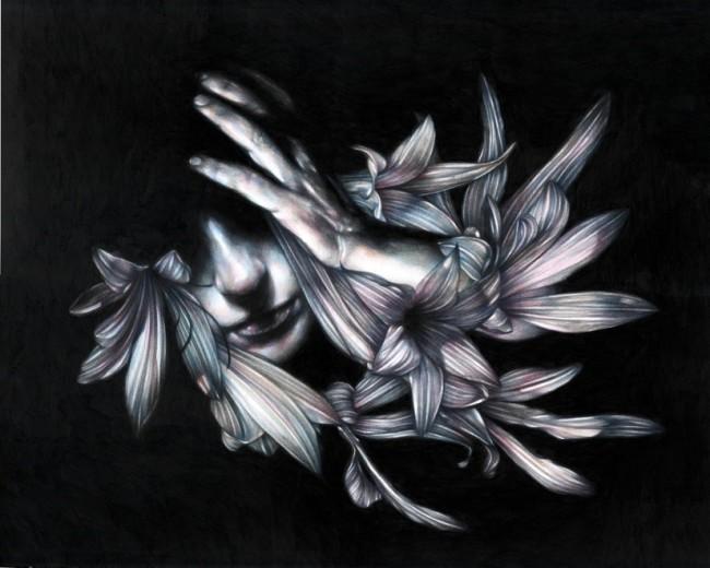 Marco Mazzoni, KURTZ, 2015, matite su carta, 40x50 cm