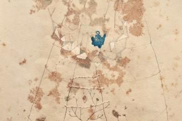 Sofia Rondelli, Sono vapore, 2015, tecnica mista su carta, 22x16 cm