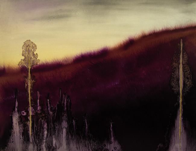 Giulia Dall'Olio, g 8][7 d, 2014, olio su tavola incisa, cm 44,5 x 54,5.
