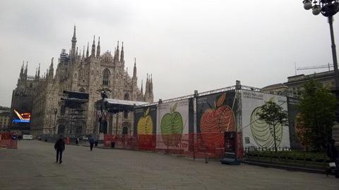 Michelangelo Pistoletto, Terzo Paradiso - La Mela Reintegrata (cantiere)