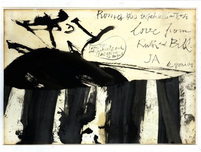 Willem de Kooning, Senza titolo (Ritratto di Toti Scialoja), 1960