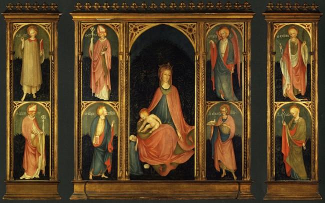 Maestro Paroto, Madonna col Bambino e Santi, tempera su tavola, Fondazione CAB, Istituto di Cultura G. Folonari, Brescia