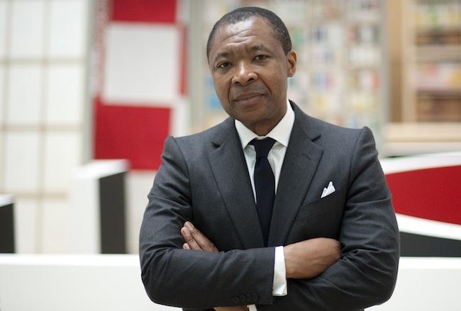 Okwui Enwezor, Direttore del settore Arti Visive – la Biennale di Venezia ECuratore della 56. Esposizione Internazionale d'Arte All The World's Futures. Foto di Max Geuter