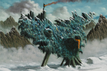 Fulvio Di Piazza, Glaciazione, olio su tela, 30x40 cm