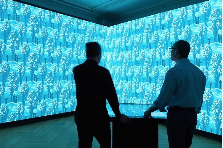 Installation view of Immersion Room. Photo- Matt Flynn © 2014 Cooper Hewitt, Smithsonian Design Museum