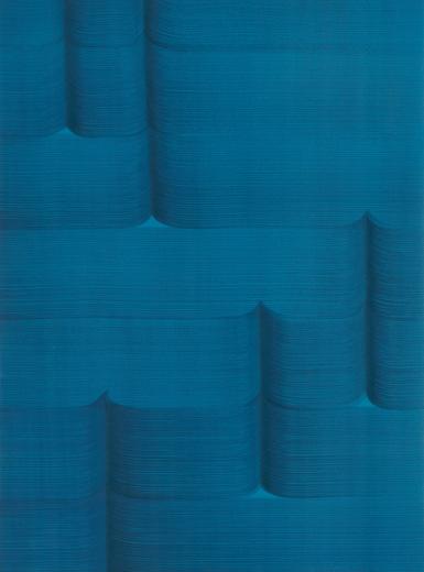 David Murphy, Untitled, 2015, casein paint on paper, selenium toner, 38x28 cm (detail)