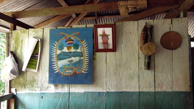 Fabiano Kueva (Ecuador) Senza titolo, 2014 Installazione sonora Courtesy: l'artista  Foto: Interno di una abitazione Siona, territorio del gruppo etnico Siona-Zio Baim, Ecuador Foto: Fabiano Kueva